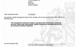 CTSOM - ISO 9001 Certificate