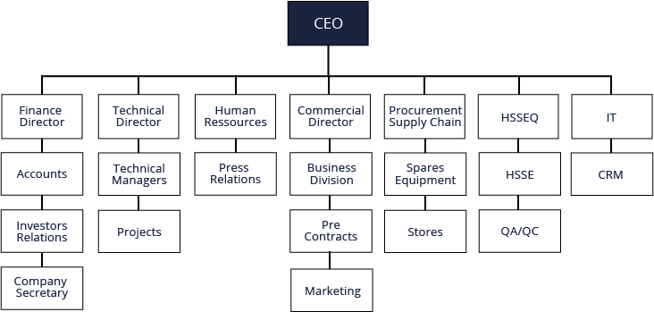 Organization chart cts offshore and marine limited organization chart altavistaventures Images