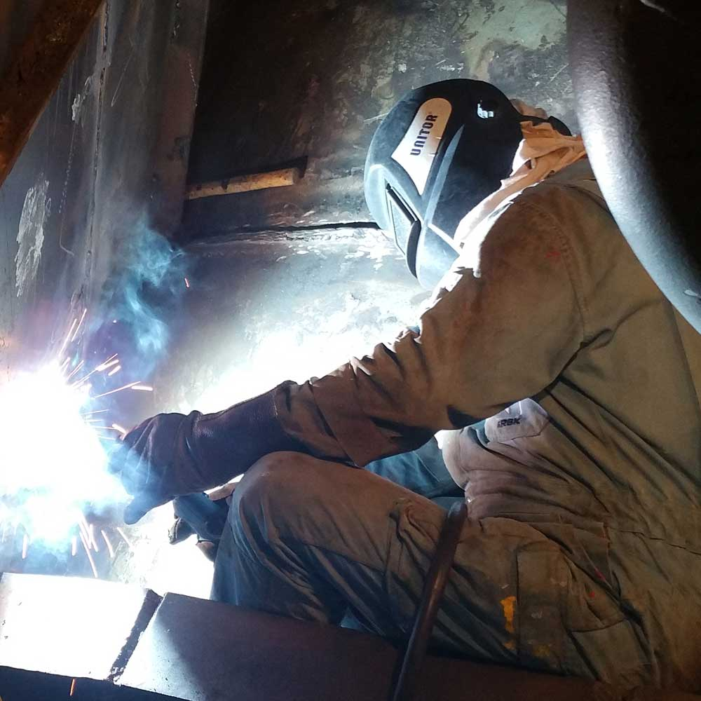Cargo Tank Steel Repairs by CTS Welder
