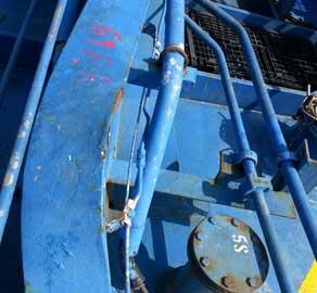 Before the repairs - Steel repairs - Case Study