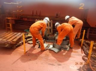 CTS Completes Crucial Forepeak and Water Ballast Tank Steel Work