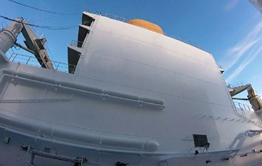 LNG Tanker After Blasting and Coating