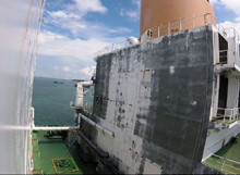 LNG Tanker Before Blasting and Coating