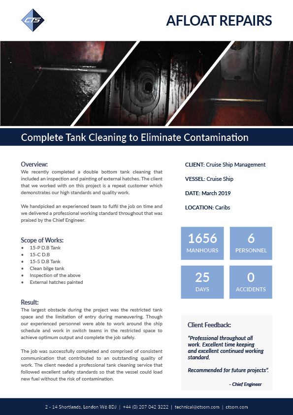 Complete Tank Cleaning to Eliminate Contamination