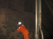 CTS Technician Completing UTM Inspection