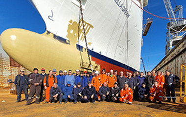CTS Crew in front of Marella Dream