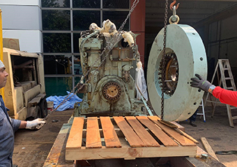 Yanmar Engine Prepared for Loading
