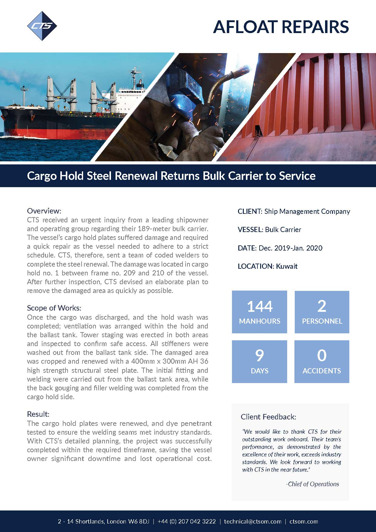 Engine Overhaul and Customization Restores Bulk Carrier